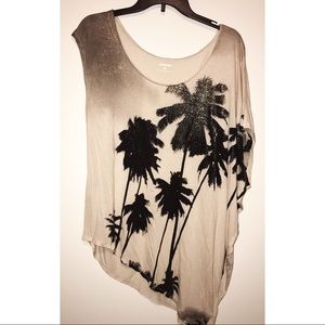 Express Off the Shoulder Palm Tree 🌴 T Shirt